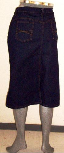 falda mezclilla tres cuartos maxi stretch tallas extra a 48