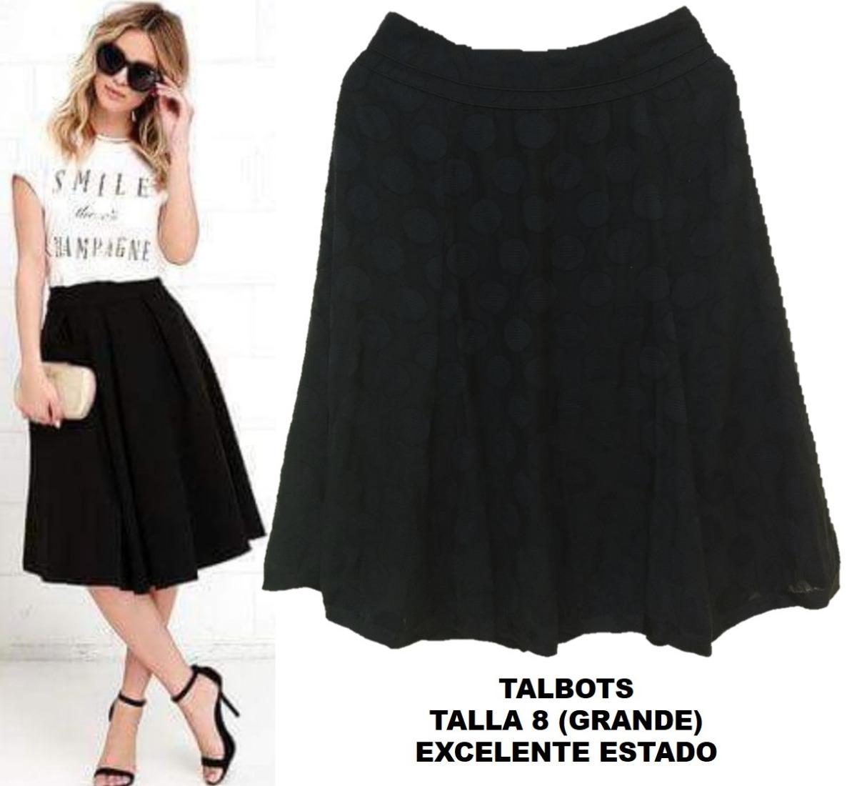 bec46997fa falda midi negra talbots grande forro garage bazarhadasa. Cargando zoom.