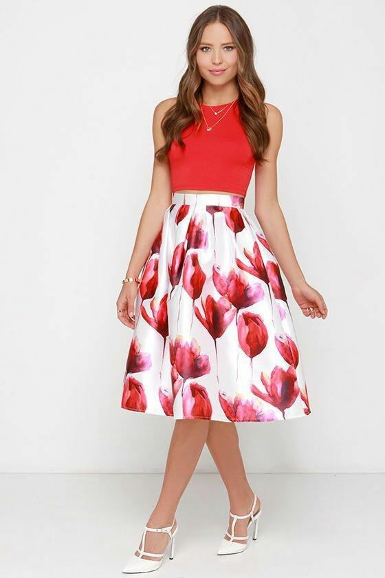 b774e5872 Falda Midi Skirt Moda Americana Primavera Verano 2019