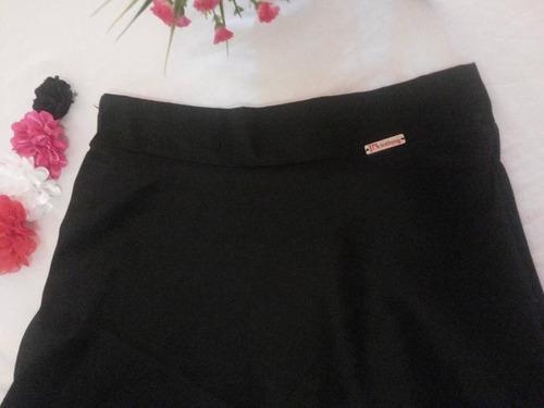 falda negra bordada midi rotonda en a elegante juvenil