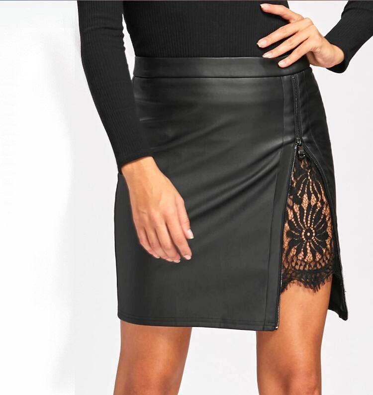 1c79382336 Falda Negra Corta Mujer Cintura Alta Casual Fiesta -   91.800 en ...