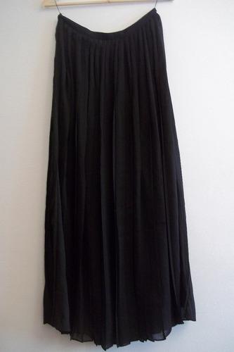 falda negra plizada de gasa talla m