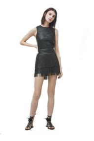 bb1218bae Falda Negra Tipo Piel