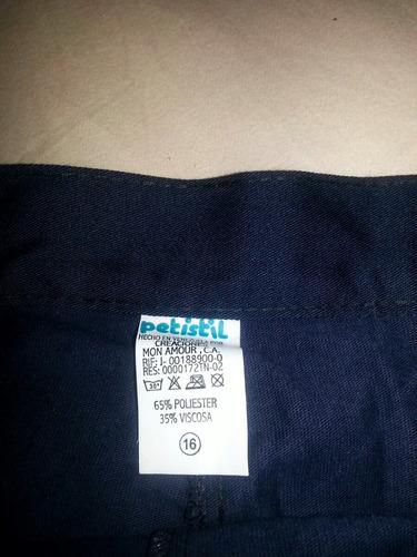 falda pantalón escolar
