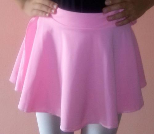 falda pareo ballet y pre ballet rosado y negro