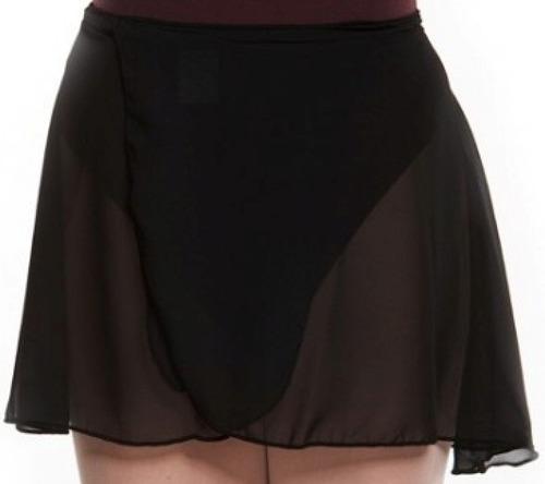 falda pareo en gasa ballet rosado y negro
