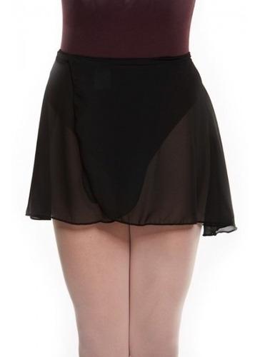 falda pareo en gasa ballet rosado y negro adulta