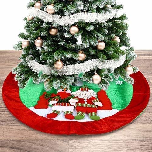 falda pie arbol de navidad 35.4  felpa precioso navideño w15