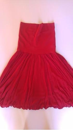 falda pollera de invierno roja elastizada