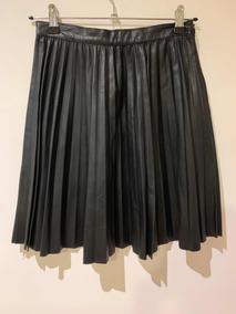 7c5a7f33d Pollera Cuero Negra - Polleras Plisada de Mujer Negro en Mercado ...
