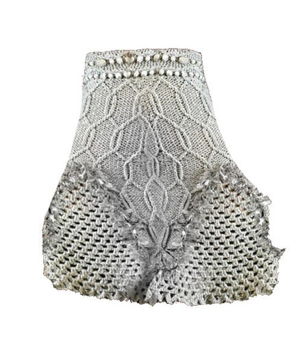 falda - pollera tejida tricot crochet con forro invierno