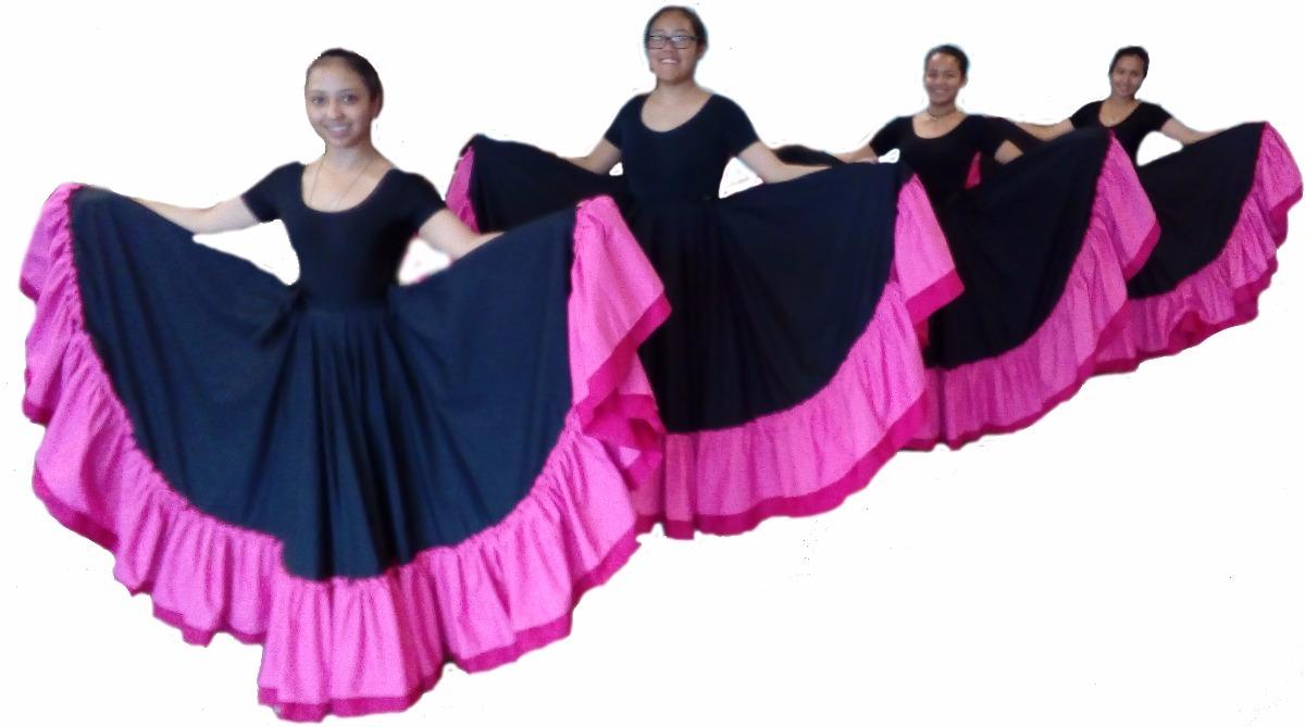 6bd99c7c0 Falda Prof. De Danza Folclórica, Doble Olán Y Doble Circular