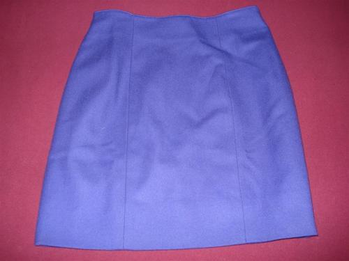 falda recta kala paño de lana violeta small en.gratis cuotas