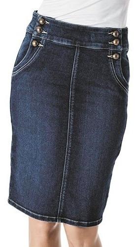 falda rev   18272  color mezclilla  dama pv