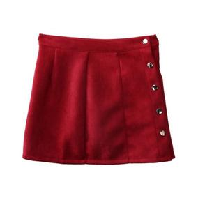 3e8277a09 Falda Roja Vintage Moda Mujer Suave Envio Gratis