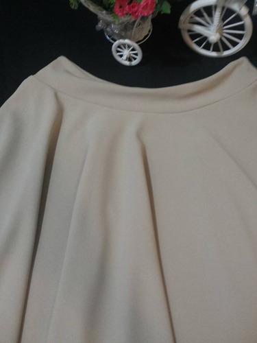 falda rotonda en a nude midi juvenil