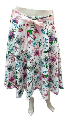 falda semilarga con estampados mtk