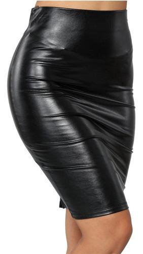 falda sexy entubada tipo piel calidad premium