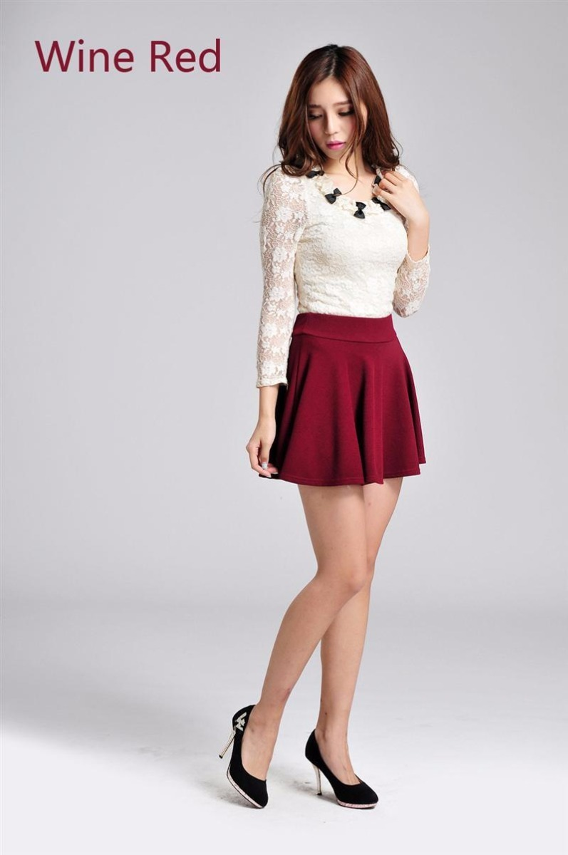 bf70e102d4 Falda Short Color Tinto