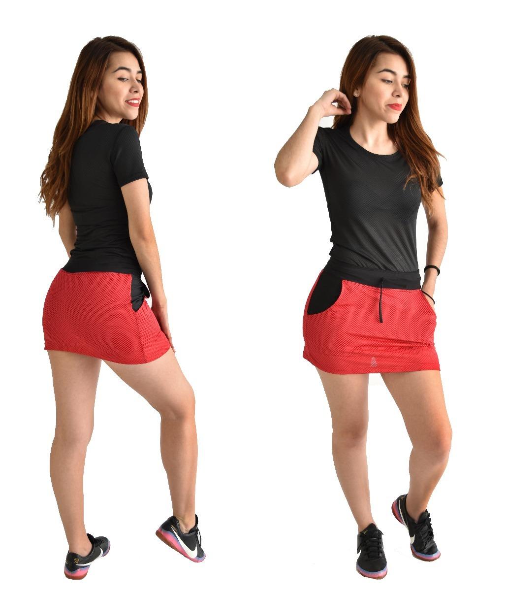 calidad asombrosa precio justo comprar popular Falda Short Deportivo Ropa Mujer Sport Correr Rojo 21214140