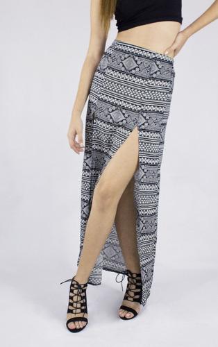 falda synergy abertura en m negra 303