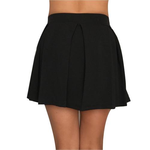 falda tableada con moño minifalda, sexy
