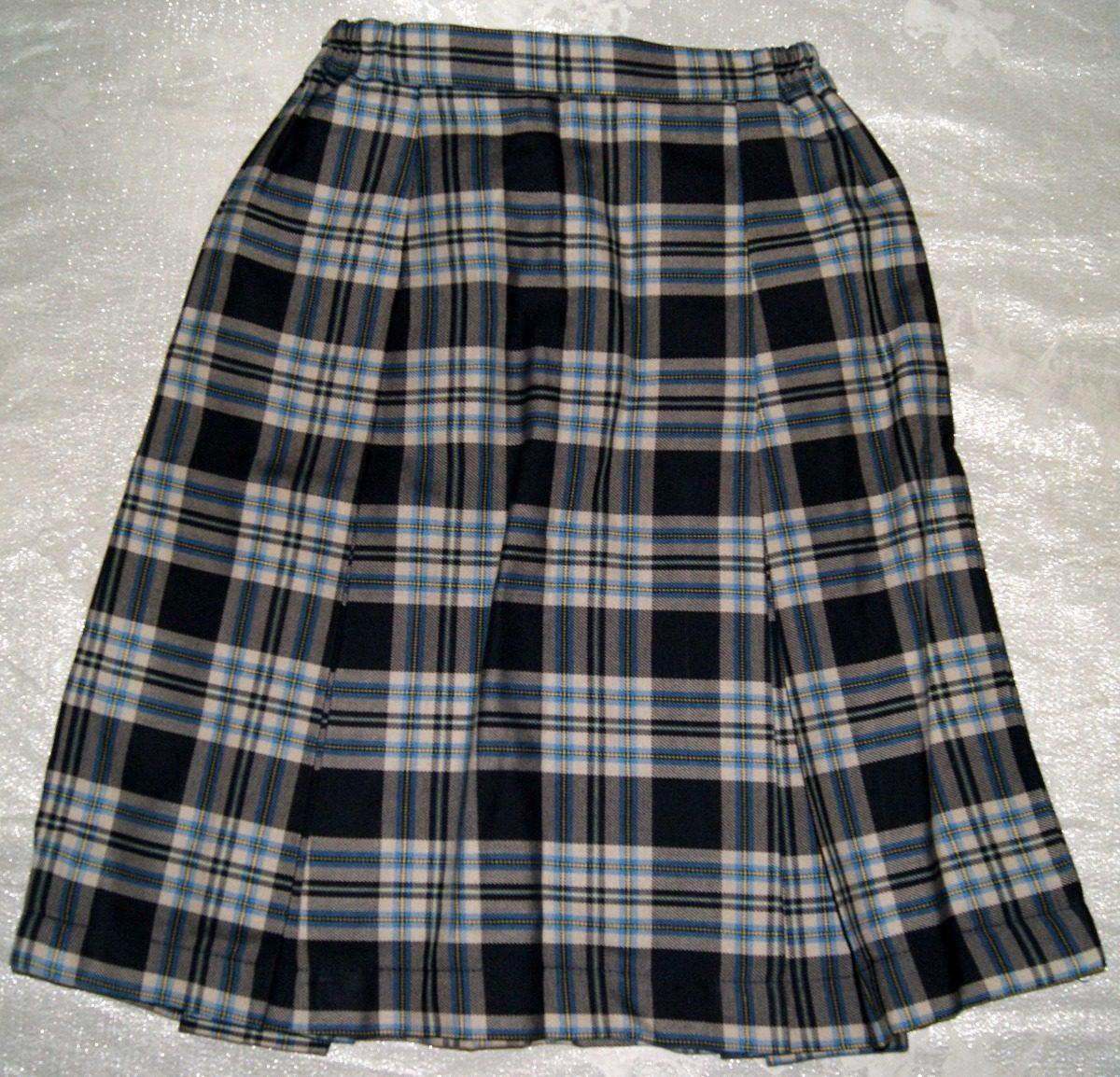 bb817068bc470 Falda Tableada Escolar Escocesa Talla 10 Niña Envio Incluido ...