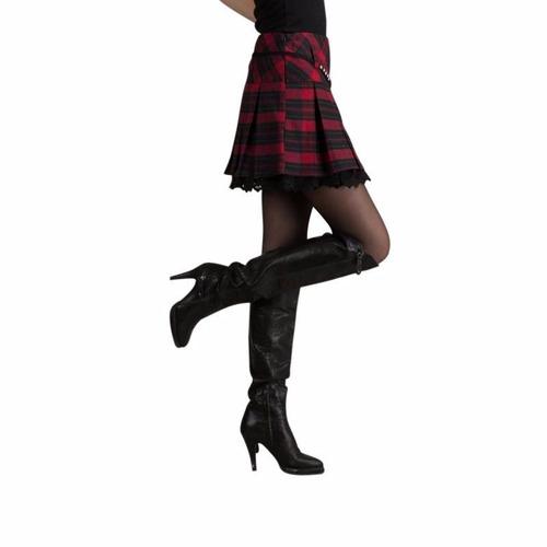 falda tableada rojo con negro