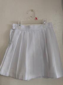26fba0aed Falda Tablones Blanca Escolar Para Niña *usada*