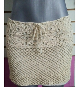 ae1088078 Falda Tejida Crochet Casual O Playero