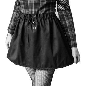 Falda Tipo Acampanada Cintura Elástica Grunge/punk/goth/rave
