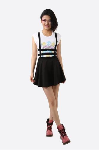 falda tirantas pastel goth punk korean ulzzang talla única