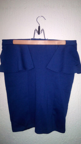 falda tubo o lapiz sthech unicolor importada