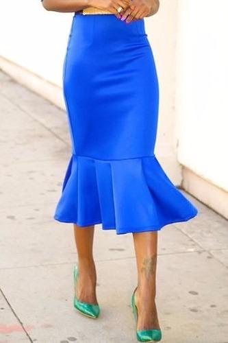 falda tubo tipo sirena