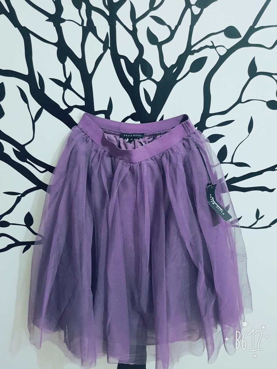 cc663d8fe Falda Tul Morada Vintage Estilo Lolita