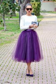 e8508b300 Falda Tul Unitalla Lolita Moda Japonesa Retro Vintage Morado