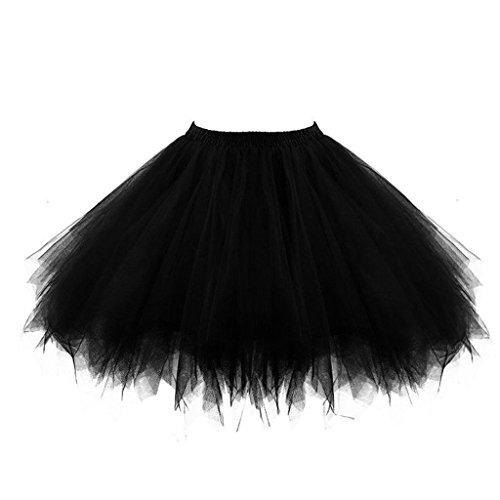 8348215c6 Falda Tutle Ballet Bubble Tutu Falda Negra De Mujer De 1950,