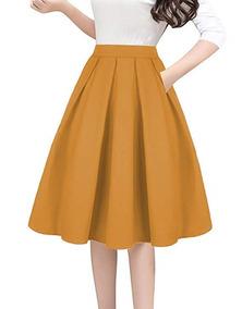 a549ebfcf Falda Vintage Con Bolsillos Para Mujer 7 Marca Tandisk