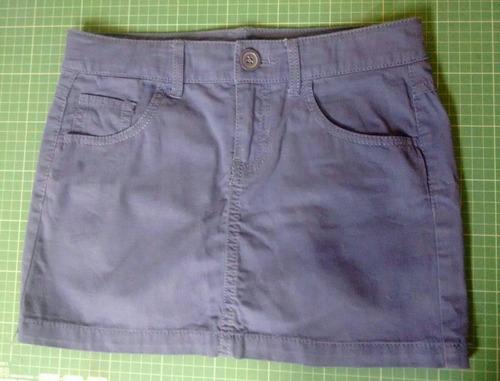 falda violeta benetton talla l nina
