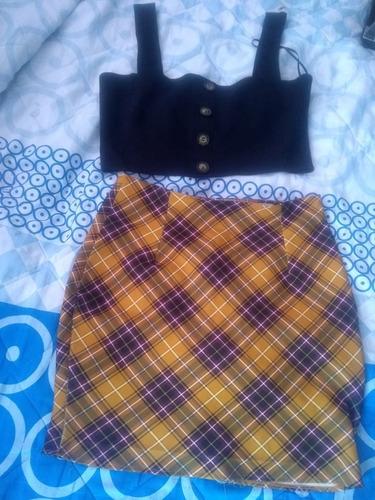 falda y top crop