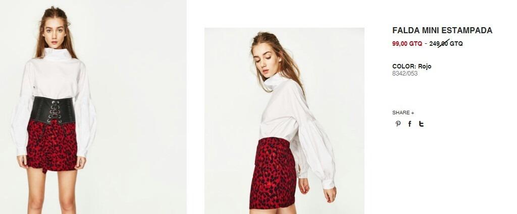 44 En 1 Leopardo Zara Print 699 Roja L Falda Animal Talle gBpwxqOPF 64b66c399f0d