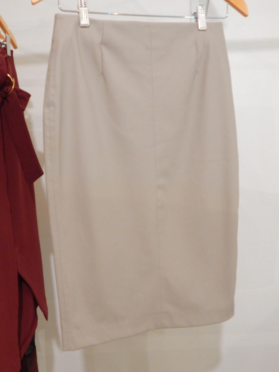 falda zara tubo simil cuero gris claro. Cargando zoom. 05fd5eaaf4f3