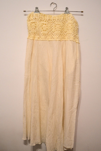 falda/pollera larga cintura tejida a crochet  (tailandia)