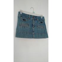 Falda Mini De Jeans Talla M