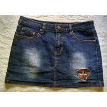 Ed Hardy Exclusiva Minifalda Jeans Mezclilla Talla 5/6