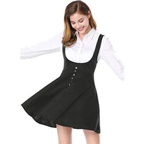 de39f61b9 Faldas Allegra K Mujer Sólido Botón Decoración