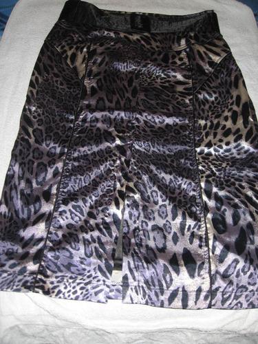 faldas animal print,seda licrada,suaves, talles44/46
