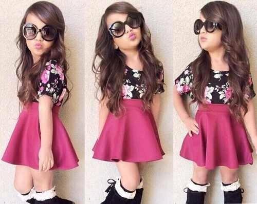 faldas campana corte princesa para niñas 4, 6, 8 y 10
