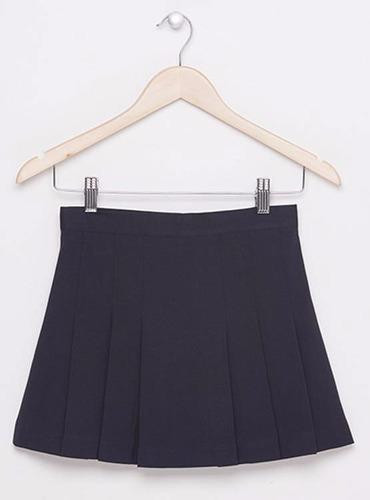 faldas colegio  dama gris-azul-cuadrille por mayor-detalle.