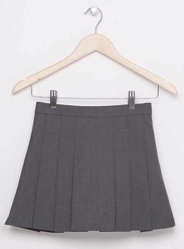 faldas colegio  dama gris-azul-t--6-8-10-12.+envio gratis